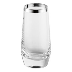 Avantgarde Liqueur glass, H9.5cm, crystal and sterling silver