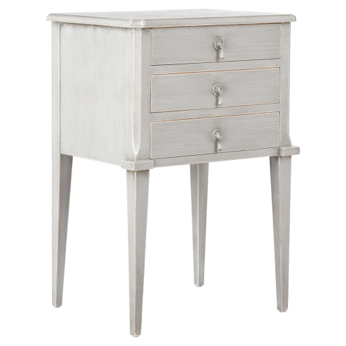 Aquila Bedside chest of drawers, L40 x W50 x H75cm, distressed grey
