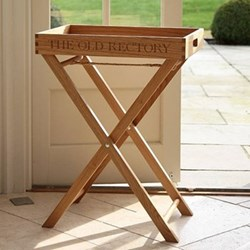 Butler stand (tray not included), H85cm, oak