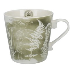 Richmond - Watercolour Meadow Squat mug, H10 - 350ml, green