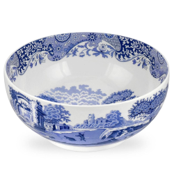 Blue Italian Round bowl, 27.5cm