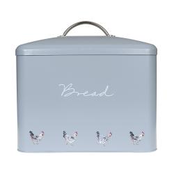 Chicken Bread bin, 34 x 31.5cm, galvanised steel