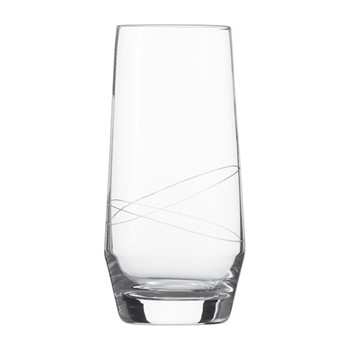 Pure Loop Set of 6 long drink glasses, H16.5 x D8cm - 542ml, clear