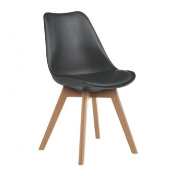 Jerry Dining chair, W47 x H84 x D55cm, black