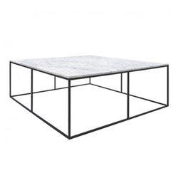 Square marble coffee table W100 x H35 x D100cm