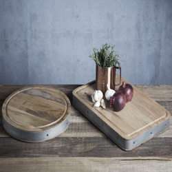 Industrial Kitchen Rectangular butchers block, 48 x 32 x 5cm, Mango Wood