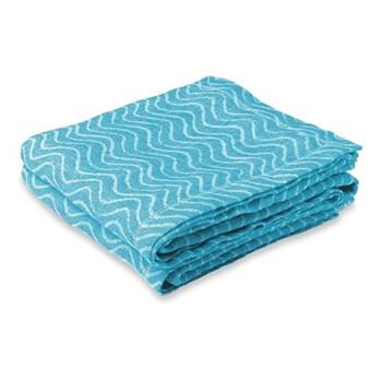 Ondas Linen beach towel, aqua