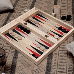 Mango Backgammon, 7 x 20 x 40cm, mango wood