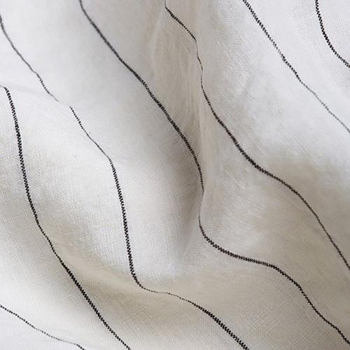 Pair of standard pillowcases, 50 x 75cm, Luna Stripe