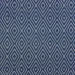 Diamond Polypropylene indoor/outdoor rug, W259 x L335cm, Navy/Ivory