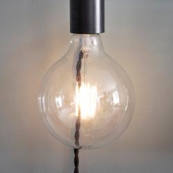 Soho Wall light, H6.5 x D4.5 x W4.5cm, Carbon