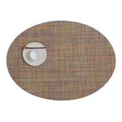 Mini Basketweave Set of 4 oval placemats, 36 x 49cm, confetti