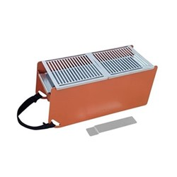 Yaki Portable barbeque, L41 x W18 x H17cm, terra cotta