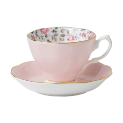 Rose Confetti - Vintage Teacup and saucer boxed