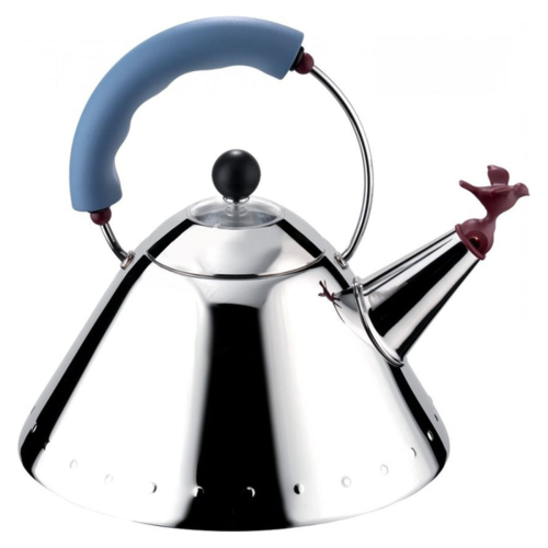 Michael Graves Kettle, Blue Handle And Red Whistle