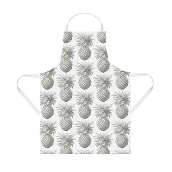 Pineapple Apron, 60 x 80cm, white/grey