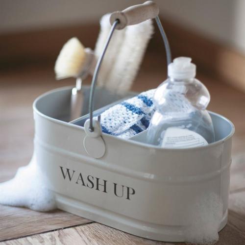 Wash up tidy, H12.5 x W27 x D14cm, Chalk