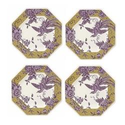 Kingsley Set of 4 plates, 24.2cm, ochre