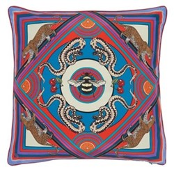 Trippy Town Cushion, L55 x W55cm, blue