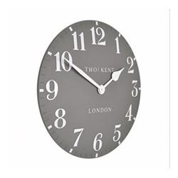 Arabic Large wall clock, 51cm, dolphin grey resin