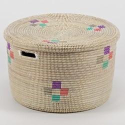 La Brise Small round storage basket, 20 x 32cm, evening