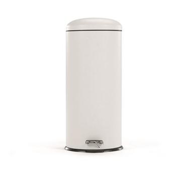 Joss Domed bin, W30 x H68 x D30cm - 30Litre, white