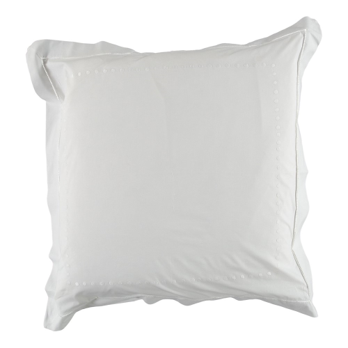 Dots Square pillowcase, 40 x 40cm, White 200 Thread Count Cotton