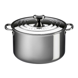 Signature Uncoated Stockpot with lid, 24cm, Stainless Steel