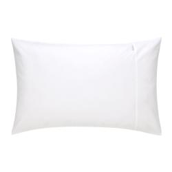 500TC Cotton Sateen Pair of housewife pillowcases, 50 x 75cm, Snow