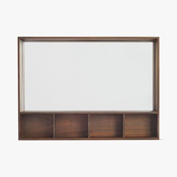 Arca By David Irwin Small wall box, W75 x L55 x D10cm, walnut