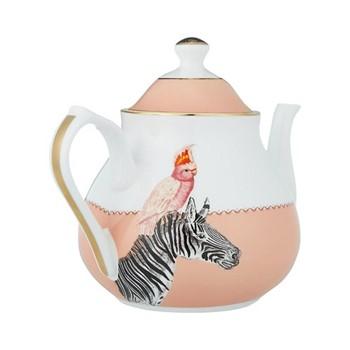 Zebra and Parrot Teapot, 500ml