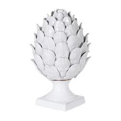 White ceramic artichoke, 34 x 19cm