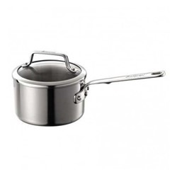 Authority Multi-Ply Clad Saucepan with lid, 1.9 litre - 16cm, stainless steel