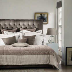 Richmond Super king bed with headboard, H154cm, Silver Grey