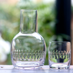 Lens Carafe and glass, 270ml, crystal