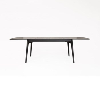 Dulwich Large wenge extending dining table, H74.5 x W200 x D100cm, wenge