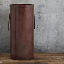 Umbrella holder, H62 x D28cm, Tan Leather