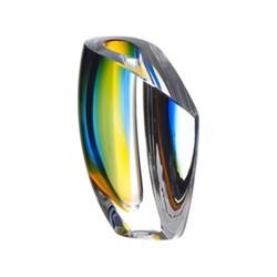 Mirage Vase, H15.5cm, blue/amber
