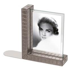 """Mia Bookend photo frame, 8.5 x 6.25"""", smoke"""