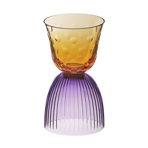 Les Endiables Bubbles glass, purple/orange