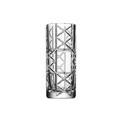 Explicit Checks vase, H25 x W10.4cm, glass