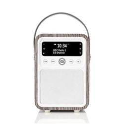 Monty DAB radio and bluetooth speaker, H19 x W13 x D10cm, limed oak