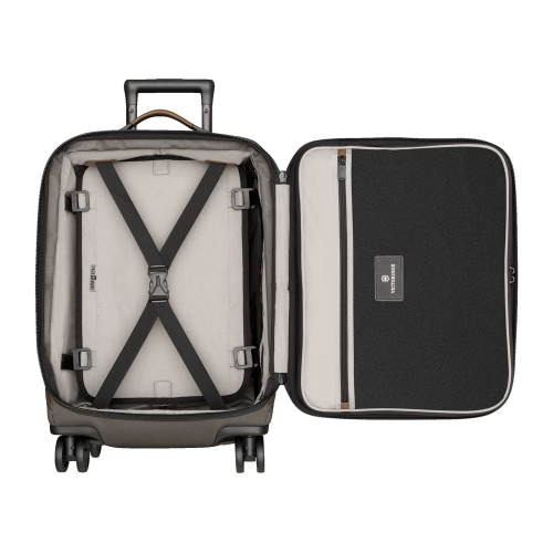 Lexicon 2.0 Dual caster global cabin case, H55 x W40 x D20cm, Grey