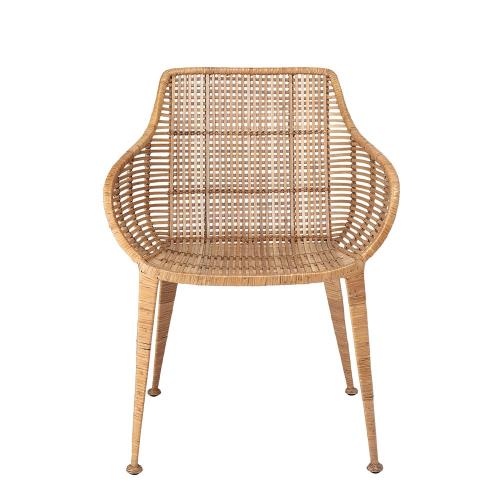 Amira Lounge chair, H80 x W59 x L60cm, Beige/ Natural