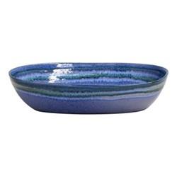 Sausalito Medium oval serving bowl, 32cm, blue
