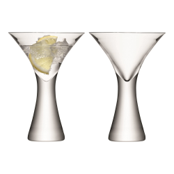 Moya Pair of cocktail glasses, 300ml, clear
