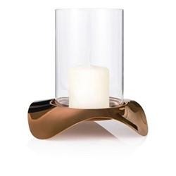 Drift Dusk Hurricane lamp, H21cm, copper