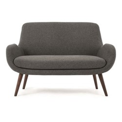 Moby 2 seater sofa, H86 x W124 x D79cm, marl grey