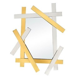 Electrum Mirror, W101.6 x H138.43cm, brass & nickel