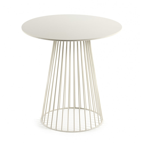 Metal Small round table, H50 x D50cmcm, White